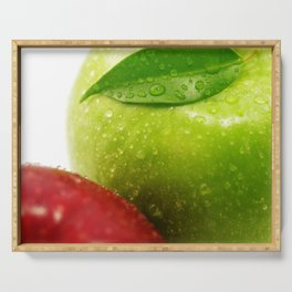 Fresh red and Green Appel in contrasts Serving Tray