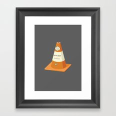 Read between the lanes Framed Art Print