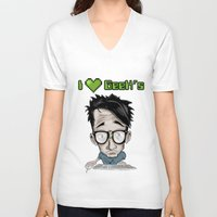geek V-neck T-shirts featuring Geek by Aguamala