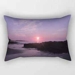 Purple Beach Sunrise Rectangular Pillow