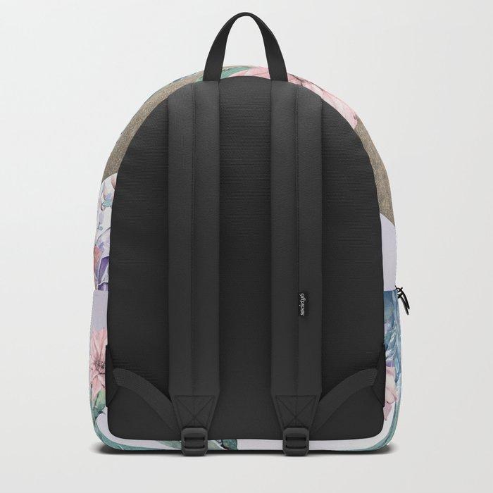 Desert Sun + Gemstones Gold Lavender Backpack