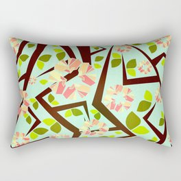 Blooming Trees Pattern III Rectangular Pillow