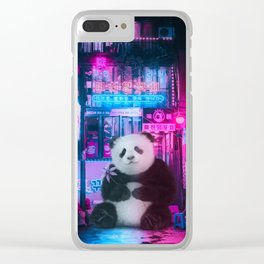 Giant panda in a Chinese street by GEN Z Clear iPhone Case