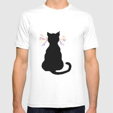 Whiskers MEDIUM White Mens Fitted Tee