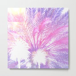 palm trees ethereal aesthetic lavender landscape art altered photography Metal Print