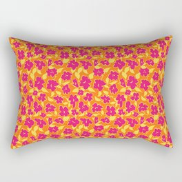 Chearful Floral Print Style Rectangular Pillow