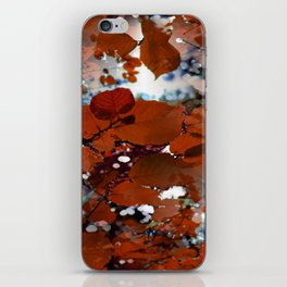 Branches in burgundy and bronze - Seamless fall leaf pattern iPhone Skin