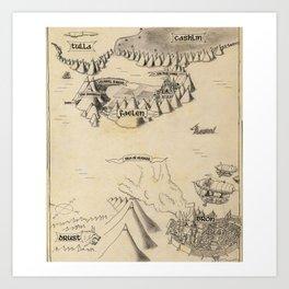 STORM SIREN Map (bk 1) Art Print