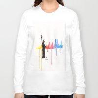 new york skyline Long Sleeve T-shirts featuring new york skyline by Sofia's Antics'