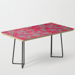 Winter Floral Pattern Coffee Table