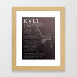 KVLT Deathbird Framed Art Print