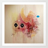 Outerspace Rock`n´Roll Unicorn Art Print