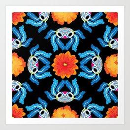 Geometric Dia De Los Ajolotes Art Print