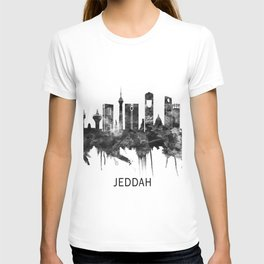 Jeddah Saudi Arabia Skyline BW T-shirt
