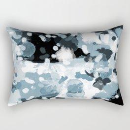 Minerva - abstract art home decor dorm college office minimal painting blue black white Rectangular Pillow