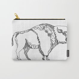 American Buffalo Doodle Art Carry-All Pouch