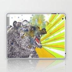 Roaring Bear Animal Watercolor Painting Laptop & iPad Skin