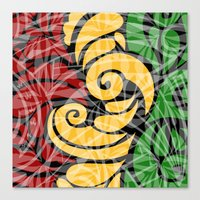 rasta Canvas Prints featuring Rasta Colors by Lonica Photography & Poly Designs