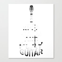 Keep Calm And Play Guitar Acoustic Guitarist Player Canvas Print