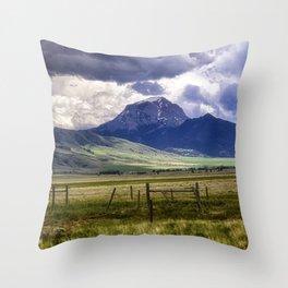 Pintler Scenic Highway Throw Pillow