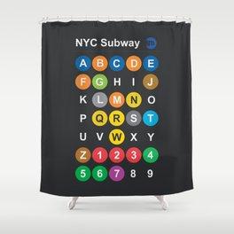 New York City Subway Alphabet Map NYC Lettering Illustration Dark Version Usa