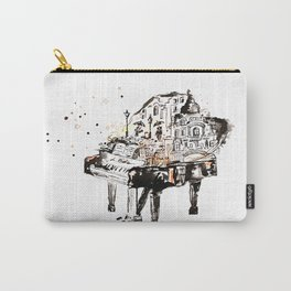 Piano, vintage watercolor piano Carry-All Pouch