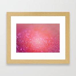 pink effulgence Framed Art Print