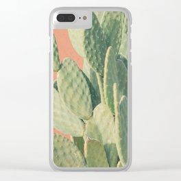 cactus 04 Clear iPhone Case