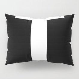Letter T (White & Black) Pillow Sham