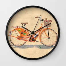 Love Holland, Love Bike Wall Clock