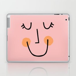 Winky Smiley Face in Pink Laptop & iPad Skin