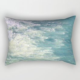 Sea Painting Maravellous Effect with brushes Rectangular Pillow