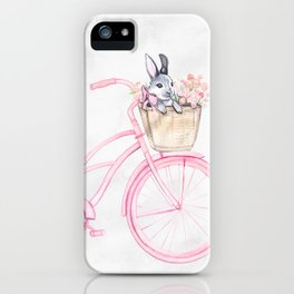 Rabbit and Bicycle iPhone Case