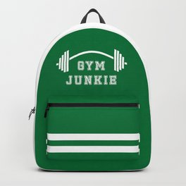 Gym Junkie Duffel Gym Sports Leisure Bag Green White Backpack