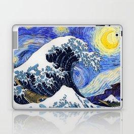 "Hokusai,""The Great Wave off Kanagawa"" + van Gogh,""Starry night"" Laptop & iPad Skin"