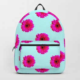 Pixel Art Flower Pattern Backpack