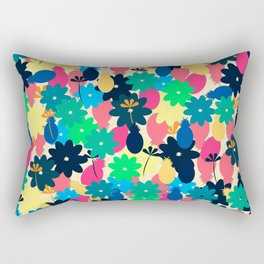 Flowers and pineapples Rectangular Pillow
