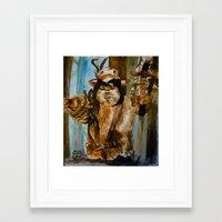 ewok Framed Art Prints featuring Ewok Shaman by Tuesday Glennan