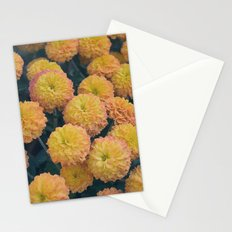 Autumn All Over Sunshine Chrysanthemums -- Fall Botanical Stationery Cards