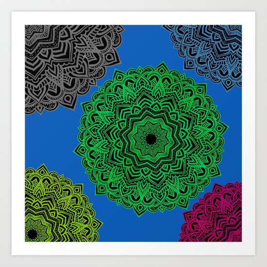 My Angel Spirit Mandhala   Secret Geometry Art Print