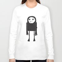 yeti Long Sleeve T-shirts featuring Yeti by Shy Ghoul