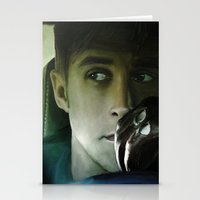 ryan gosling Stationery Cards featuring Ryan Gosling - Drive by Helena McGill