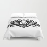 ornate Duvet Covers featuring Ornate Lotus by ZantosDesign