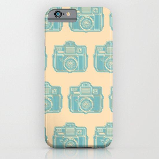 I Still Shoot Film Holga Logo - Reversed Turquoise/Tan iPhone & iPod Case