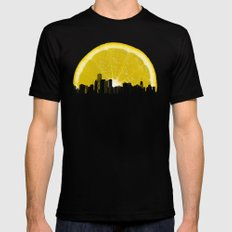 super lemon LARGE Mens Fitted Tee Black
