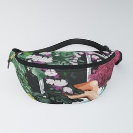 One Relax Moment Beside Swimming Pool in Summer Time Fanny Pack