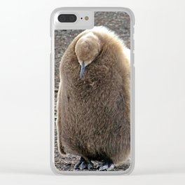 King Penguin Chick Clear iPhone Case