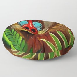"Henri Rousseau ""Mandrill in the jungle"" Floor Pillow"