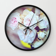 The Last Days of Spring - Old Roses IV Wall Clock