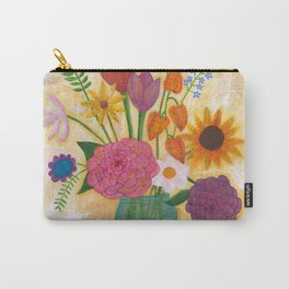 blue jar of flowers Carry-All Pouch
